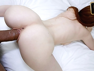 Abbey Rain in Newcomer Gets Broken In red head pov blowjob video