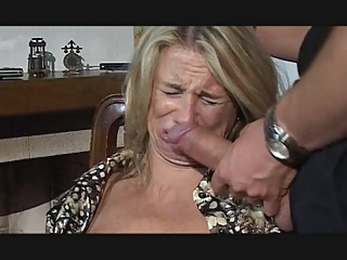 Hesitant MILF fucked in throat, pussy and ass blowjob milf anal video