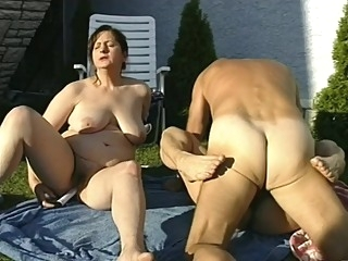 Nasty Grandmas Suck Old Man's Cock bbw big tits blowjob video