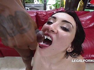 Big ass woman in garter belt and stockings, Mandy Muse got naked and fucked two black guys anal big ass brunette video