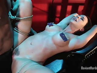 Kinky woman with big tits, Chanel Preston got tied up and fucked until she came bdsm big tits fetish video