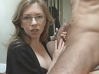 mom's girlfriend has chosen my dick blowjob mature handjob video