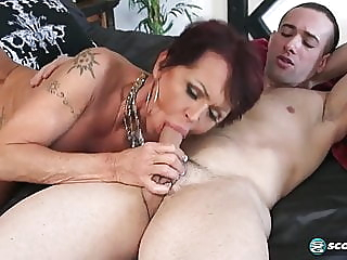 Guy fucks Grandma blowjob milf old & video