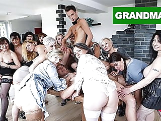 Biggest Granny Fuck Fest part 2 blowjob fingering hardcore video