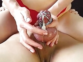 shots in chastity-ruined close-up cumshot bdsm video