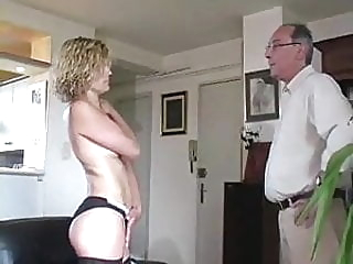 MILF model stripped naked, exposed and spanked hard bdsm milf french video