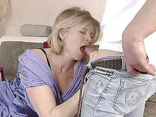 Lustful deaf-mute Russian grandma Diana, Hardcore blonde blowjob hardcore video