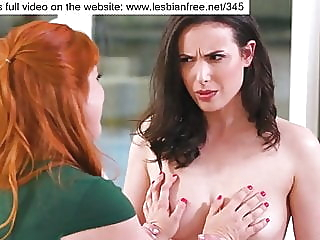 A CHANCE FOR HER NEIGHBOR brunette lesbian redhead video