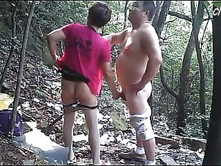 Asian Bear Enjoys Prostitute In Woods amateur asian mature video