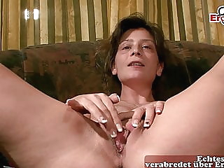 German hairy housewife masturbates at casting amateur hairy mature video