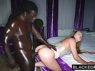 BLACKEDRAW Her white boyfriend thought she was stuck at work blowjob brunette facial video