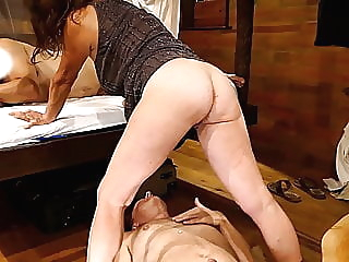 My wifed fucked by her lover, I lik her fresh creamed pussy mature creampie cuckold video