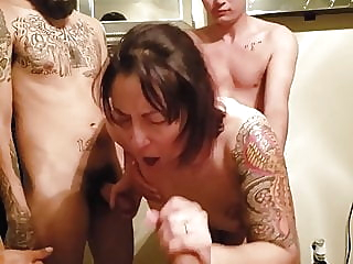 Wife's first gangbang – so proud milf gangbang hd videos video