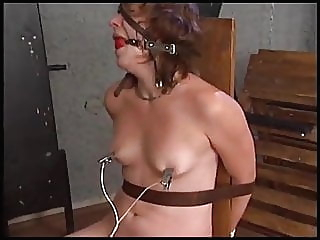 Electric torture of a naked woman bdsm chair screaming video