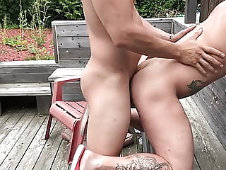 Fucking in the Backyard amateur (gay) bareback (gay) big cock (gay) video