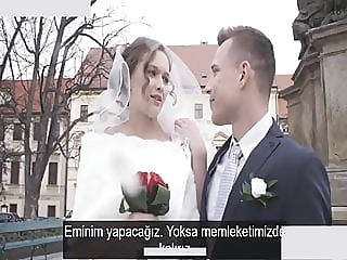 The new bride brought home for free (Turkish Subtitles) blowjob cumshot hardcore video