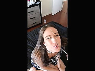 Double facial cumshot amateur cumshot facial video