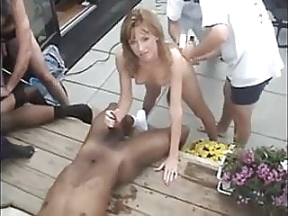 Blacks bang blonde wife blonde blowjob cumshot video