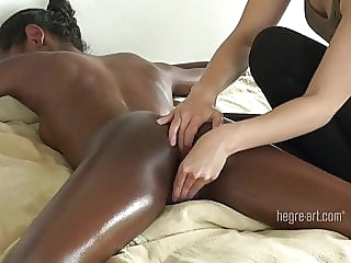Erotic massage bisexual interracial softcore video