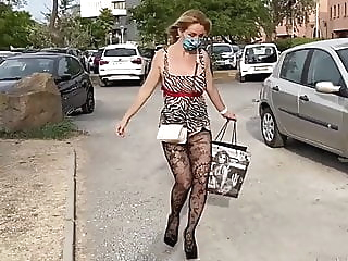 Sex Challenge 2020, Sexy outfit amateur blonde flashing video