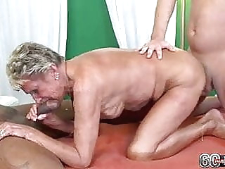 Sandra with 2 guys blowjob hardcore granny video