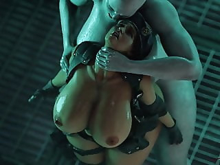 Resident Evil 3, Jill gets inseminated by tyrant by Rigid3D cartoon hentai hd videos video