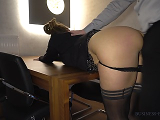 New Years Eve Business Meeting - Boss Fucks Secretary On The Table amateur big ass hd video