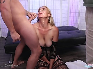 Milf Bukkake. Behind The Scene View After My Gangbang. Joanna Meadows. Naughtyjojo amateur big tits blonde video