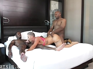 Busty Blonde Milf Kaden Tries To Handle Two Massive Black Dicks amateur big ass big cock video