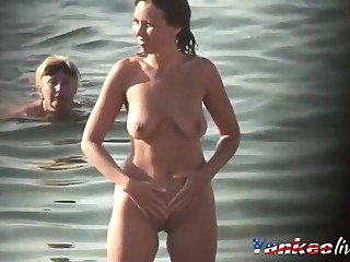 Just Real Nude Milfs At Beach - Voyeur amateur beach big tits video