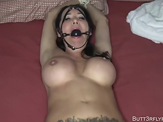 Rae Knight - Bound, Gagged, And Overwhelmed Mom amateur bdsm big tits video
