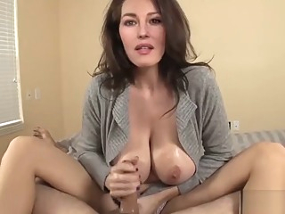 Monica Belucci gives you a handjob amateur big tits celebrity video