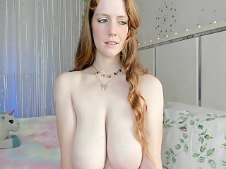 Redhead Rose Sucks And Licks Pink Nipples And Big Saggy Tits amateur big tits red head video