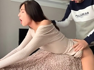Hot sex with an 18 year old skinny girl amateur big ass blowjob video