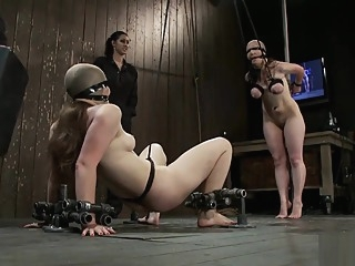 Tied up sluts moan in pleasure masturbation big tits hd video