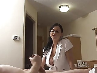 Lonely and horny traveller in Hotel handjob stockings milf video
