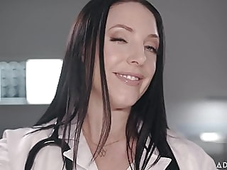 ASMR Fantasy Dr. Angela White gives Full Body Physical Exam blowjob cumshot fingering video