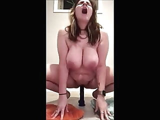 Cumpiiation 17 - BBW Dildo Ride brunette bbw tits video