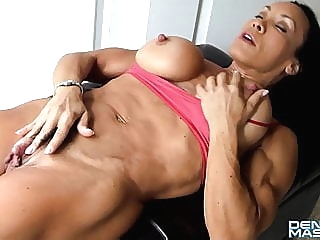 Denise FBB Big Clit hd videos big clit muscular woman video