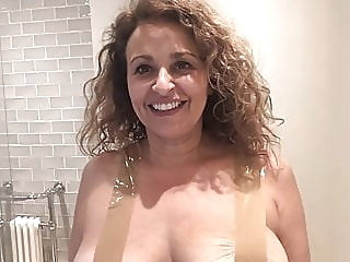 Nadia Sawalha Tapes Her Big Tits Up celebrity funny nipples video
