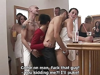 Czech Home Orgy blonde blowjob brunette video