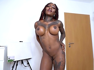 Big Tits African Babe Dirty Talks & Squirts Multiple Times on your Big Cock amateur big cock big tits video