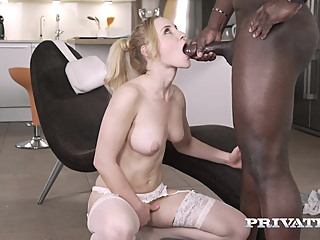 Helena Valentina is having casual sex with a black guy, in the middle of the day anal big tits blonde video
