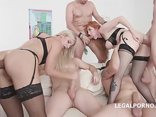 Lauren Phillips and Natalie Cherie are having group sex with guys they have just met anal big tits blonde video