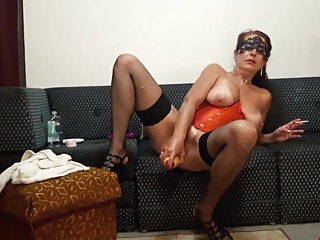 Milf masturbating smoking big toy Wildcat anal big tits high heels video