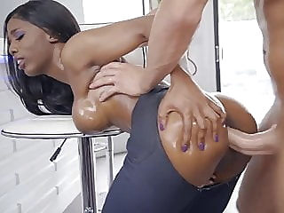 Brazzers presents Sarah Banks, ebony in Jeans fucked hard, hot anal blowjob hd videos video