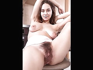 hairy pussy compilation, slide show, 160 girls blonde brunette hairy video