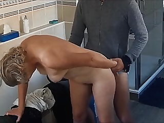 My wife fucked in the bathroom on real hidden cam 1 amateur hidden camera creampie video