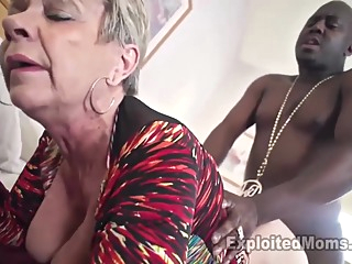 Breasty Granny in Creampie Clip blonde grannies interracial video