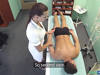 Don in Hot nurse massages patient before sucking and fucking him - FakeHospital amateur big butt voyeur video